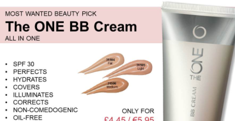 Oriflame BB Cream Review screenshot of europe catalogue