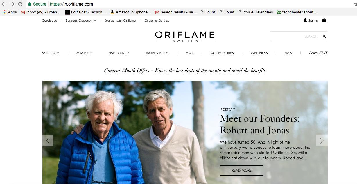 Oriflame Website 1