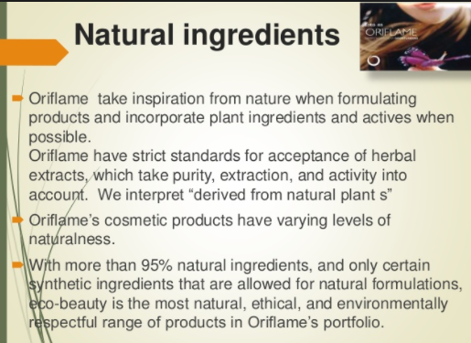 Oriflame Products Are Vegans 1